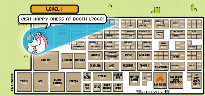 Happy Chess PAX Floorplan Map